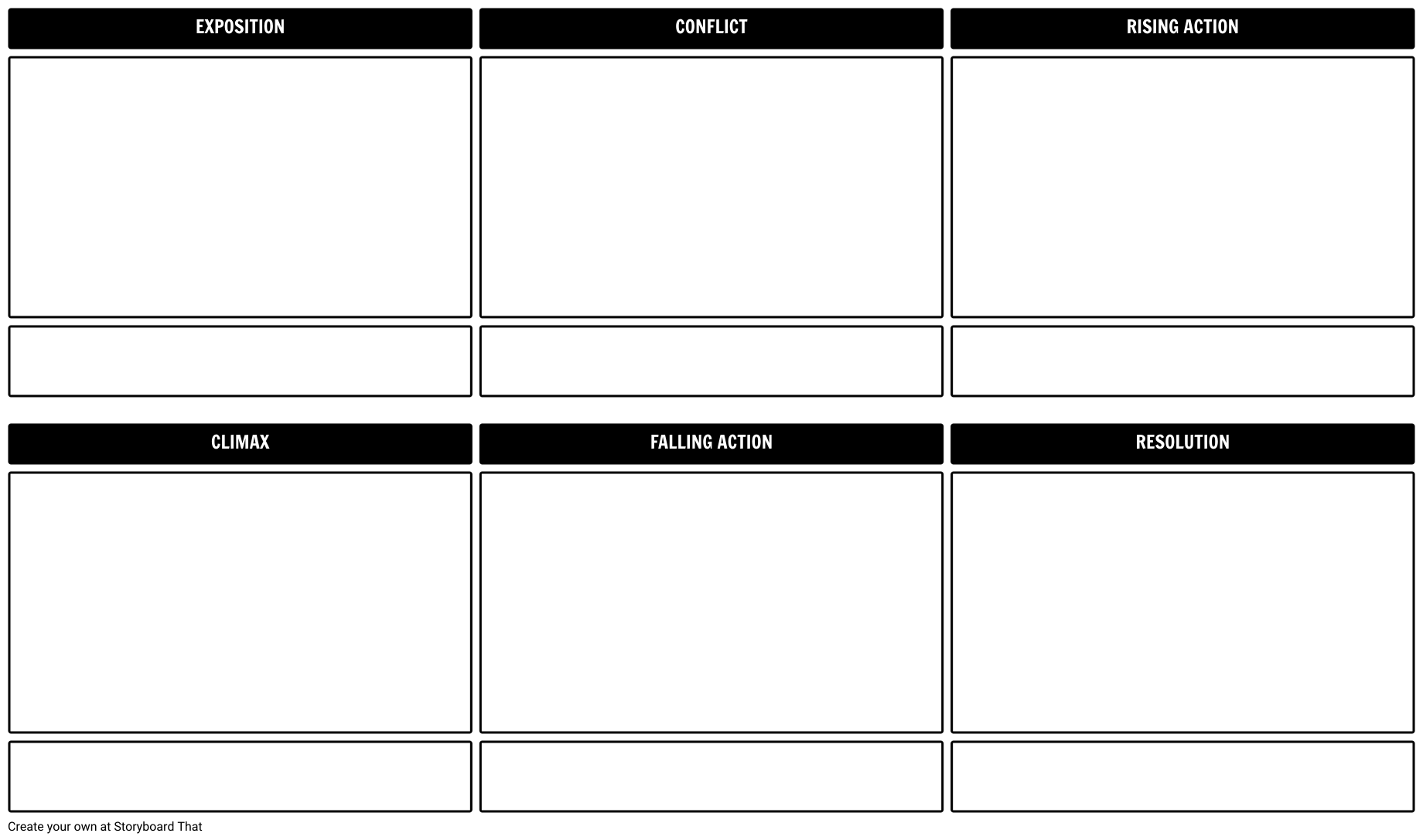 Plot Diagram Planner Storyboard Template