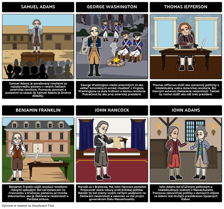 Hlavné Postavy Americkej Revolúcie