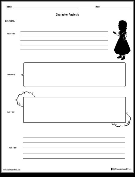 Pracovný List na Analýzu Postáv