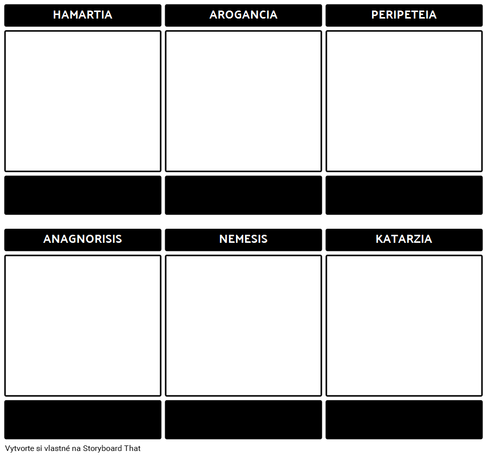 Tragic Hero Template Blank