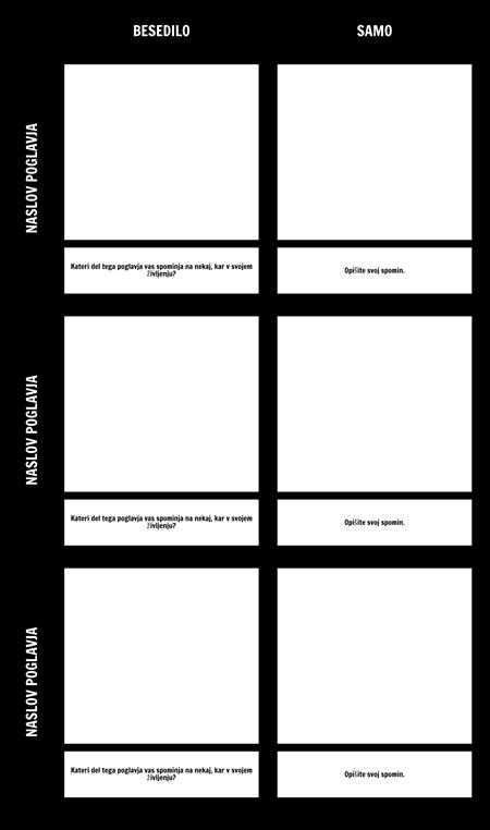 Besedilo za Self Grid Predloga