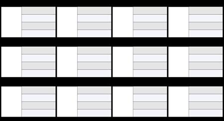 Karta znakov 16x9 4 polja