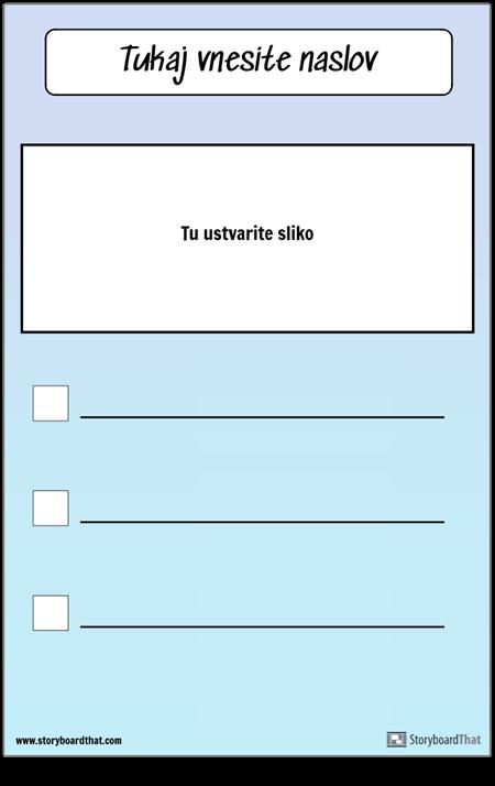 Kontrolni seznam s sliko