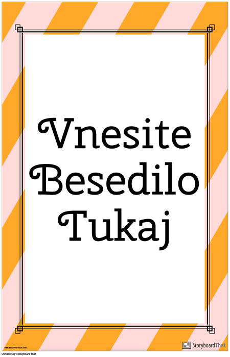 Striped Vertical Quote Poster