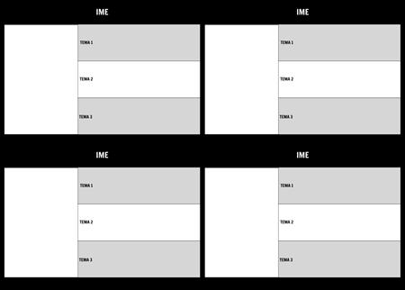 Tabela znakov 3 Polje 16x9