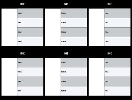 Tabela Znakov Predloga Blank