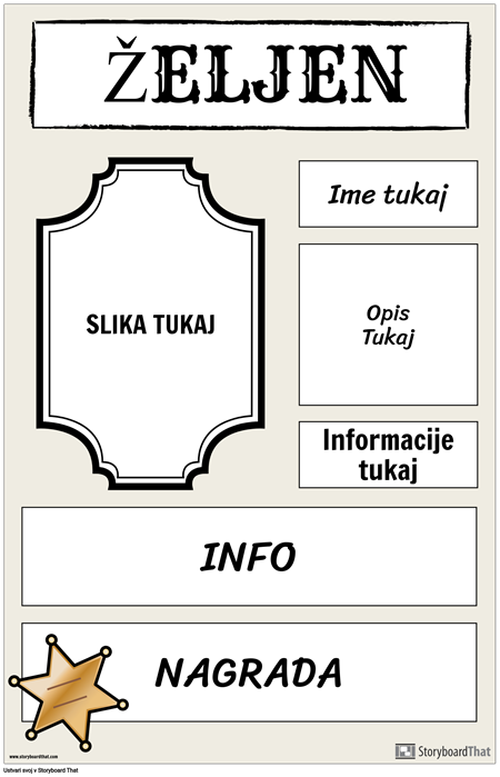 Zaželeni Plakat 2