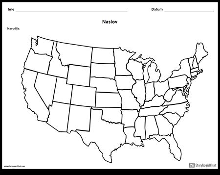 Zemljevid Združenih Držav