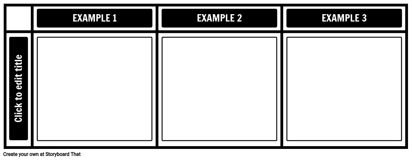 3 Examples Chart