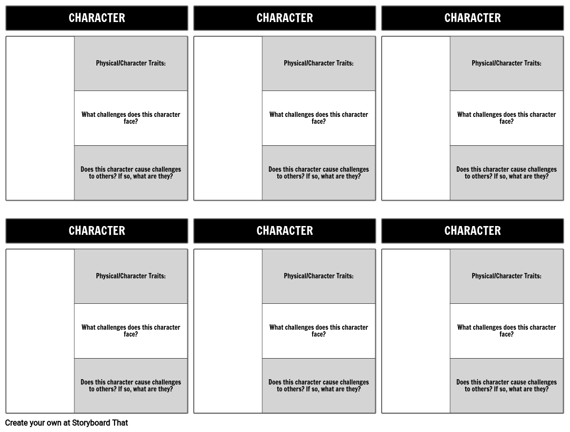Character Map Challenges