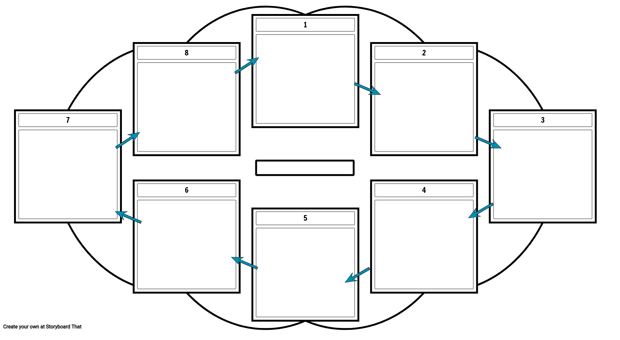 Cycle Template with Arrows