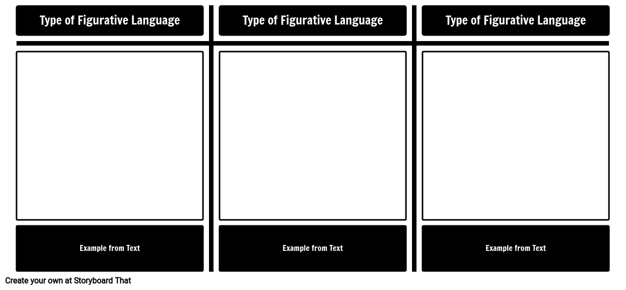 Figurative Language Examples Template