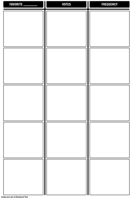 Frequency Tally Chart Template