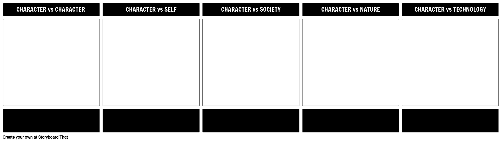 Literary Conflict Template