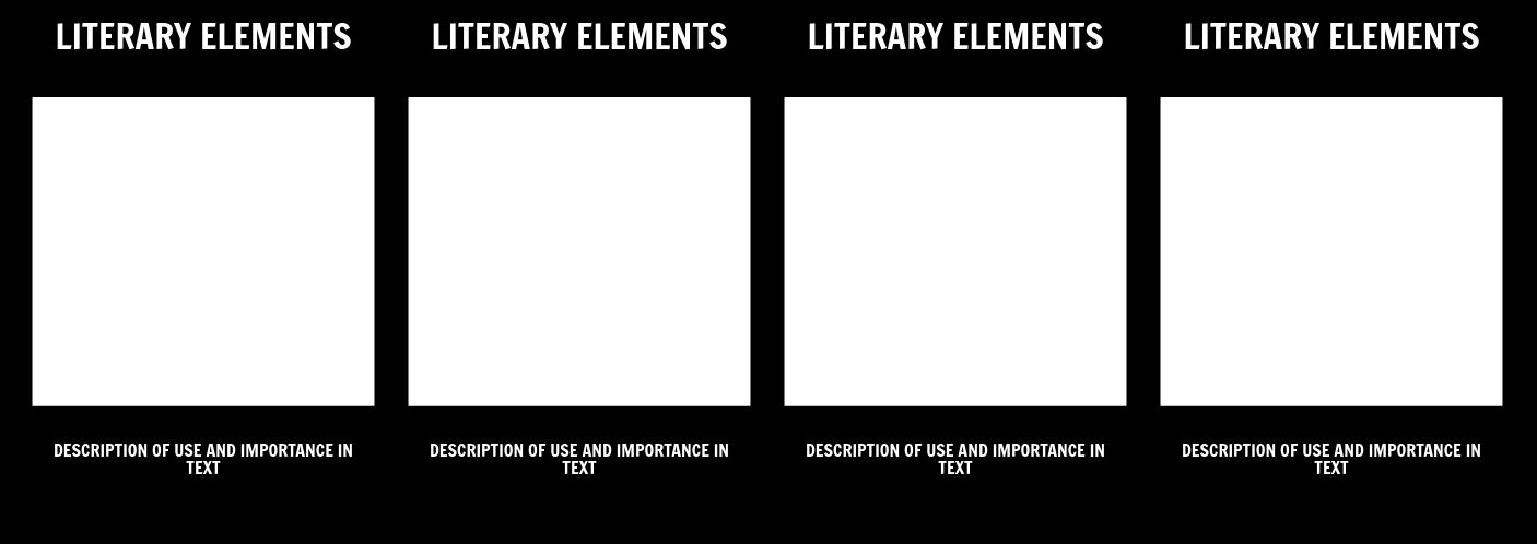 Literary Elements T-Chart