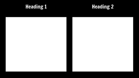 T-Charts - Blank