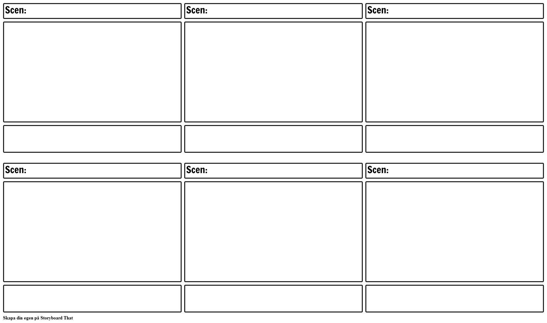 Blank Film Storyboard Mall