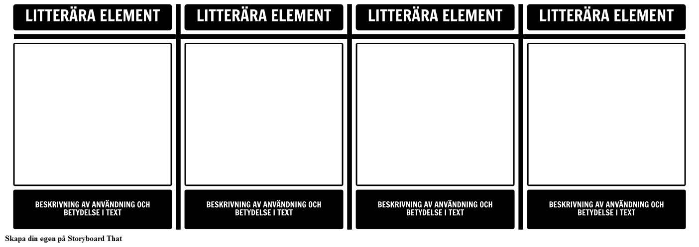 Litterära Elements T-diagram