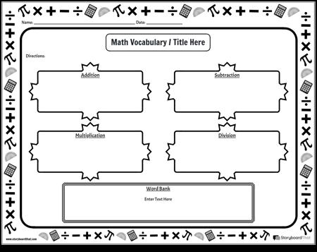 Matematisk ordförråd 2