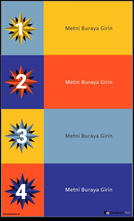 4 Blok İnfografik Şablonu