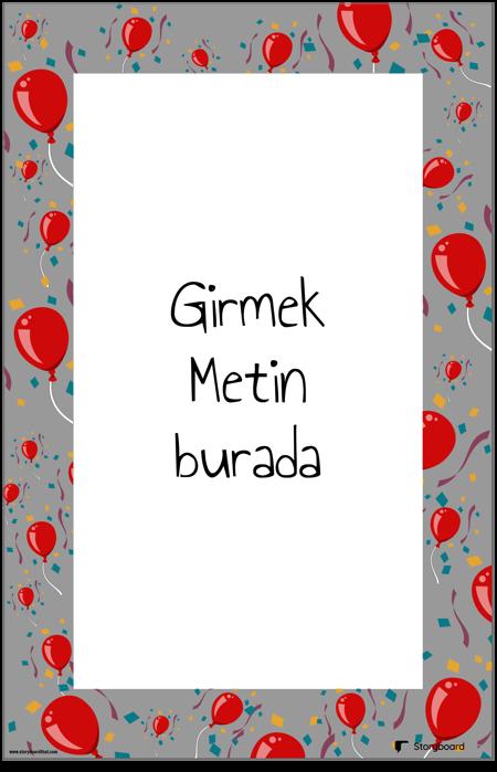 Balon Süsleme Posteri