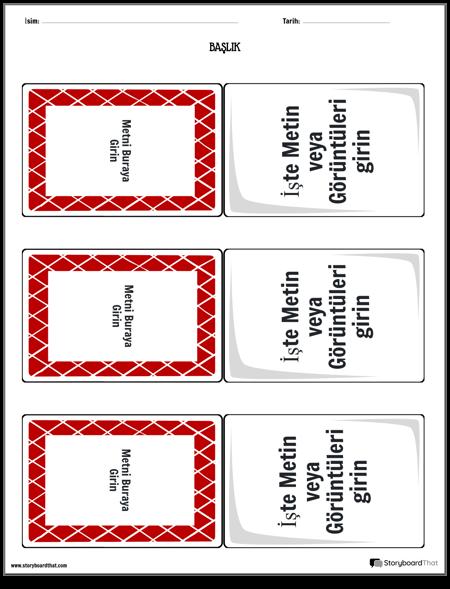 bilgi kartları şablonu 2
