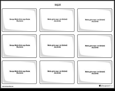 Bilgi kartları şablonu 3