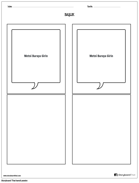 bilgi kartları şablonu 4