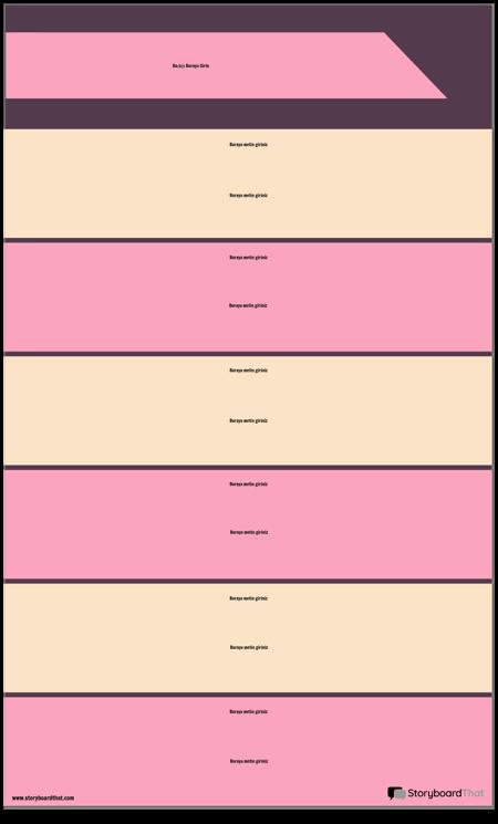 Blok Bölümleri Bilgi Grafiği Şablonu