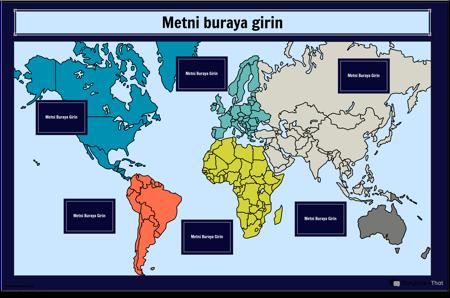 Dünya Haritası İnfografik