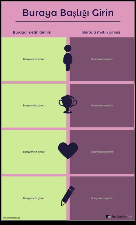 Karşılaştırma Bilgi Grafiği Şablonu