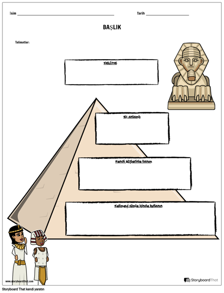 Kelime Piramidi Şablonu