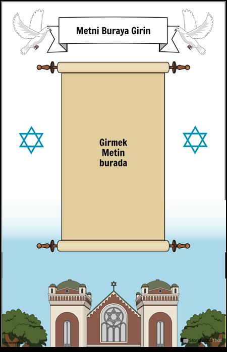 Parşömenli Yahudi Posteri