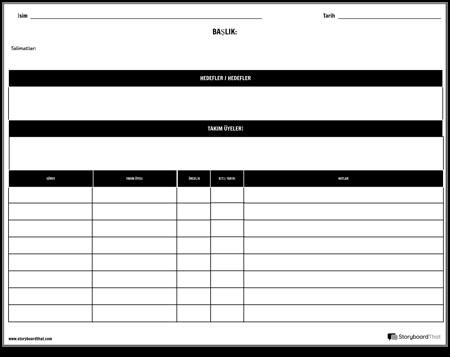 Planlayıcı - Projeye Göre