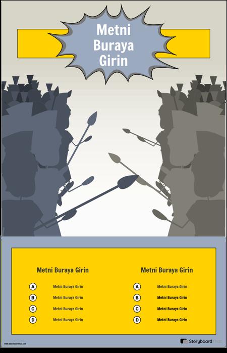 Savaş İnfografik Şablonu