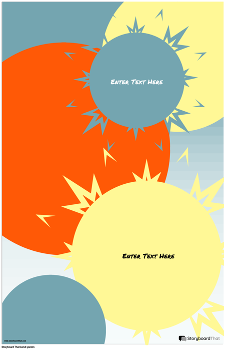 Sunburst Infographic Şablonu
