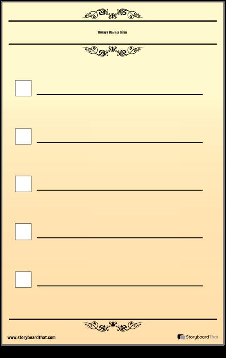 Temel 5 Kontrol Kontrol Listesi