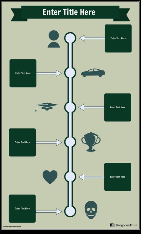 Zaman Çizelgesi Bilgi Grafiği Şablonu