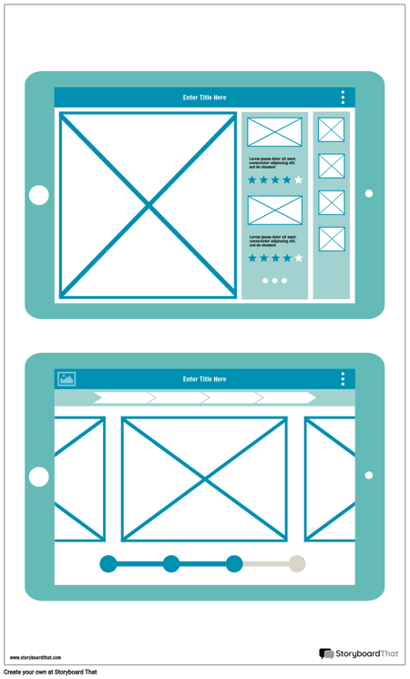 Wireframes Tablet