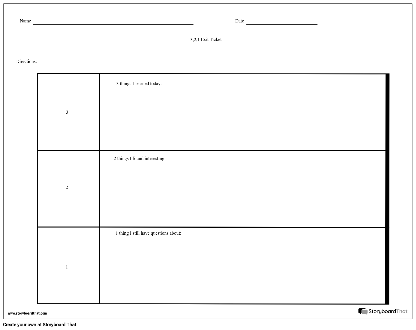 Exit Slip Template from cdn.storyboardthat.com
