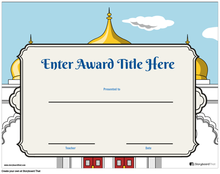 Award Page Template 2