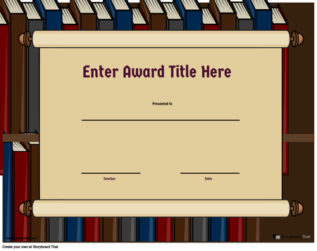 Award Page Template 3