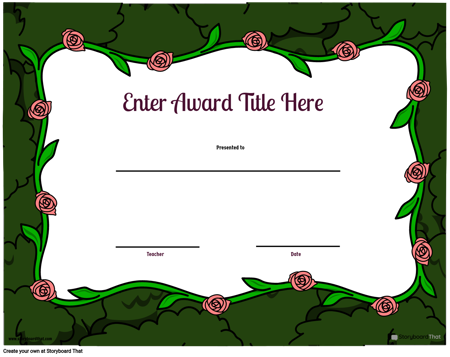 Award Page Template 4