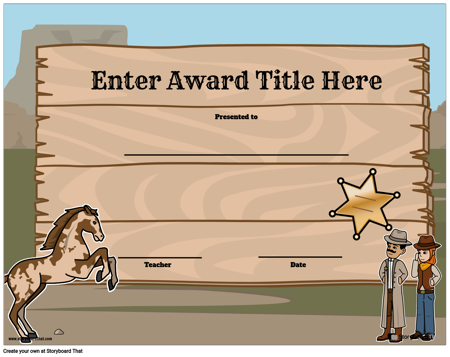 Award Page Template 5