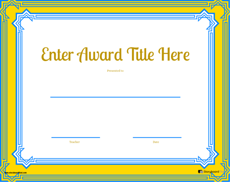 Award Page Template 6