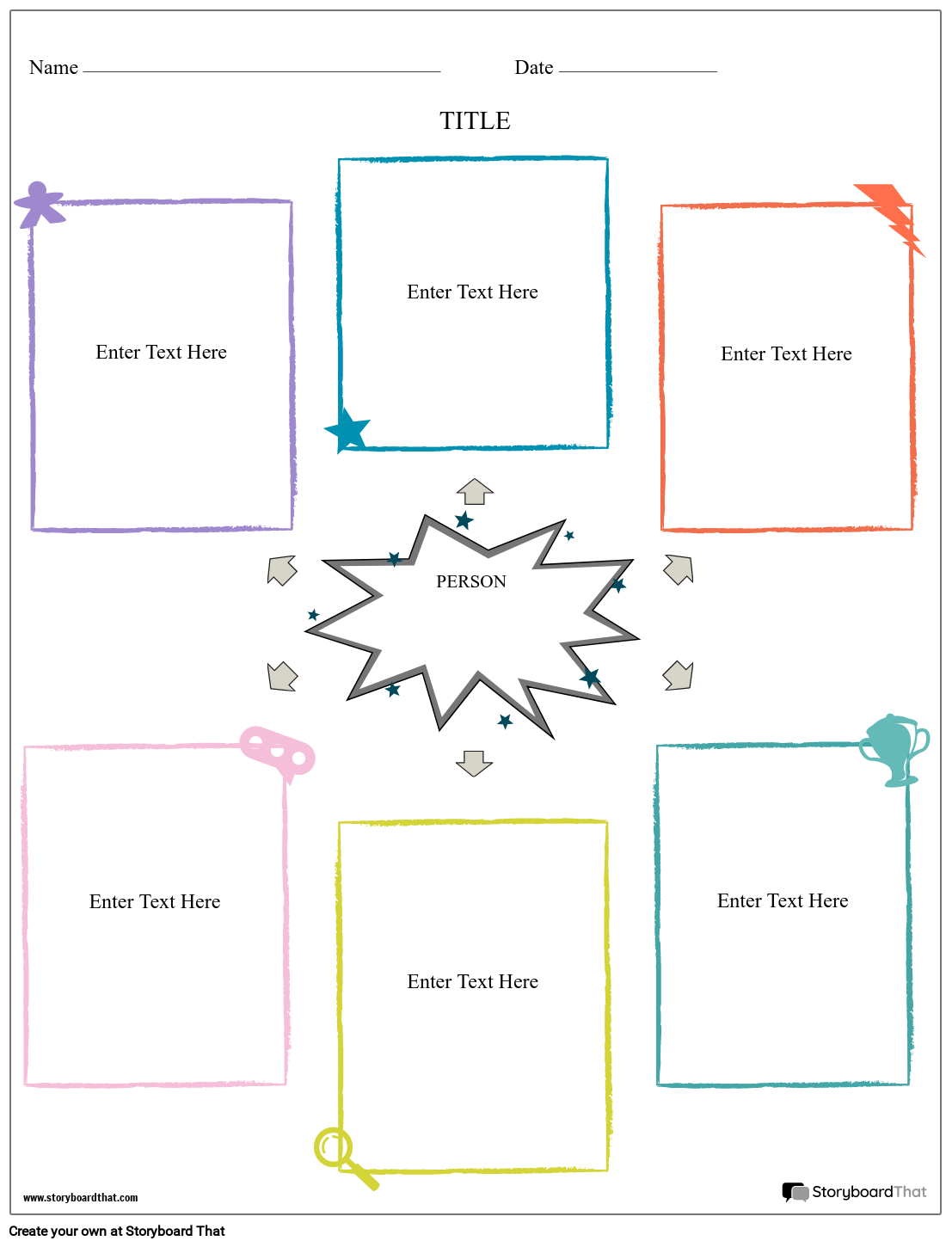 biography graphic organizer portrait