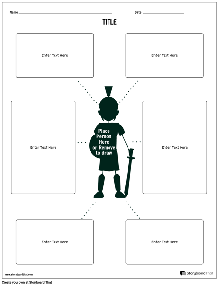 Biography Spider Map Template