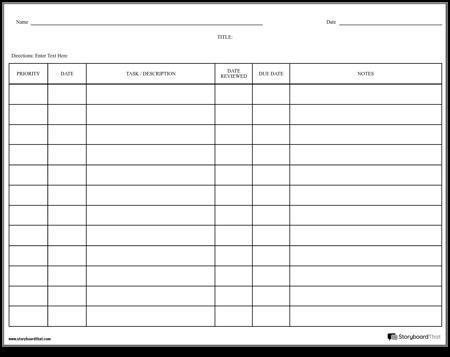 Grid Checklist
