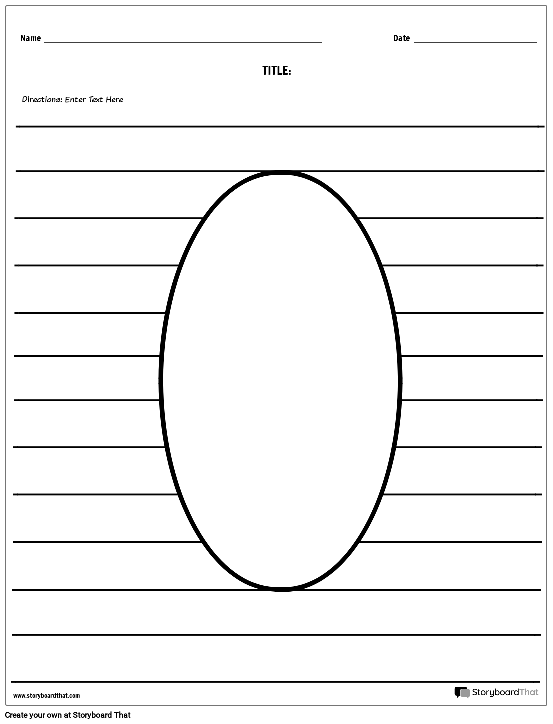 Oval Illustration