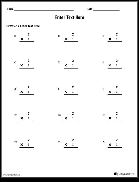 Multiplication - Single Number - Version 2